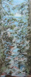 """""""In the Branches III""""  30"""" x 12""""  oil on canvas"""