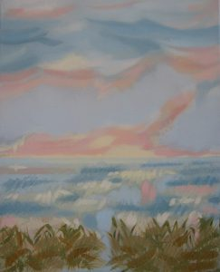 """Squall Thistle II  - oil on canvas                                                     20"""" x 16""""  ( framed to 21"""" x 17"""" )"""
