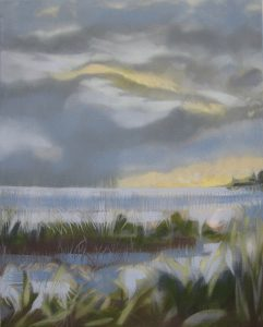 """Storm II  -  oil on canvas                                                      20""""x16""""                                                                                  ( framed to 21"""" x 17"""" )"""