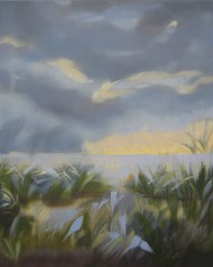 """Storm coming I - oil on canvas                                                     20""""x16""""                                                            ( framed to 21"""" x 17"""" )"""