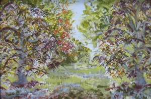 """""""Beeches in the grove"""" 12"""" x 18""""  oil on canvas                         Framed to 12"""" x 18"""""""