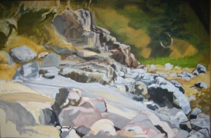 """""""Little Cove"""" oil on canvas  28"""" x 40"""""""