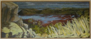 """St Mary's Bay"" oil on canvas framed to  20"" x  60"""