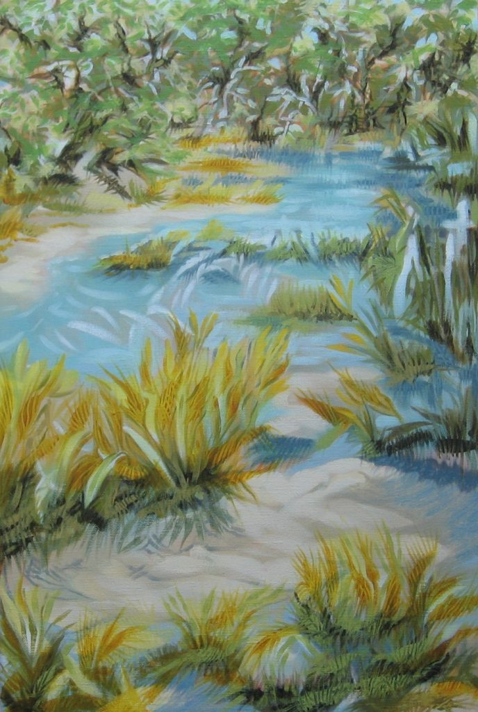 """Up a Creek""   24"" x 16""  oil on canvas"