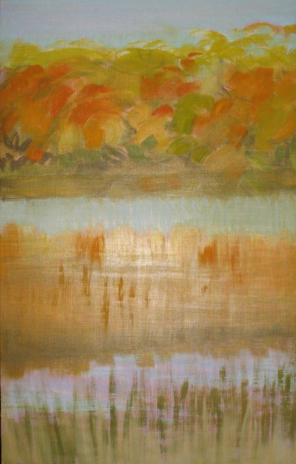 """Shelter Island Pond II"" ""19"" x 12"" oil on panel"