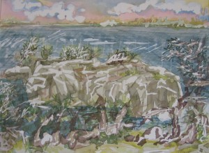 Fort Whetherill, Jamestown, Rhode Island Painting