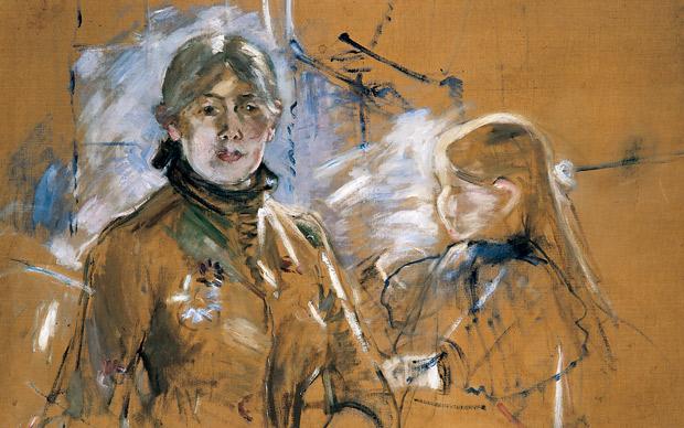 Portrait of Berthe Morisot and Her Daughter Photo: GALERIE HOPKINS CUSTOT