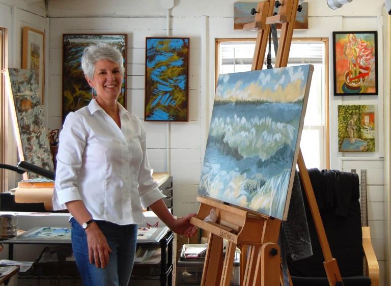 Jo-Anna Melrose, Artist in her Studio