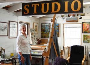 J.A. Melrose, Artist in Shady Lea Studio