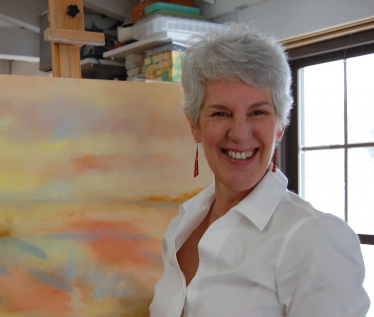 J.A. Melrose, Artist in her Studio